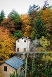 Huis in de Herfst Stock Afbeelding