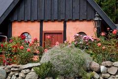 Huis in de noordse stijl, Bornholms, Denemarken Royalty-vrije Stock Afbeeldingen