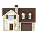 Huis in de stad Stock Afbeelding