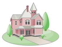 Huis in de stad vector illustratie