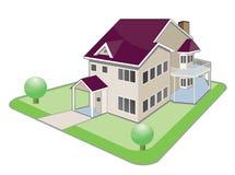Huis in de stad royalty-vrije illustratie