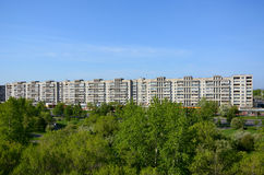 Huis in de stad van komsomolsk-op-Amur, Rusland Stock Foto's
