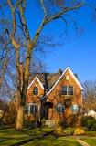 Huis in de voorsteden in Illinois Stock Foto