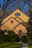 Huis in de voorsteden in Illinois Stock Afbeeldingen