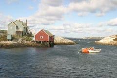 Huis door de oceaan Royalty-vrije Stock Afbeelding