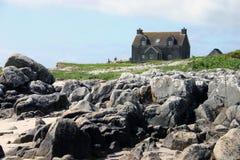 Huis door het strand Royalty-vrije Stock Foto's