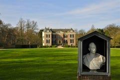 Huis Doorn Facade and Bust of Wilhelm II Stock Image