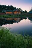 Huis in dorp royalty-vrije stock foto's