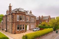 Huis in Edinburgh Photo in retro stijl royalty-vrije stock afbeeldingen