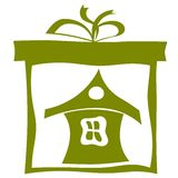 Huis in een kartondoos. eps10 Royalty-vrije Stock Foto's
