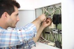 Huis elektroproblemen voor elektricien royalty-vrije stock foto
