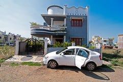 Huis en auto Stock Afbeelding