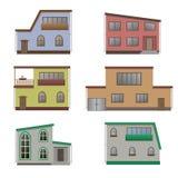 Huis en de bouwreeks Royalty-vrije Stock Foto's