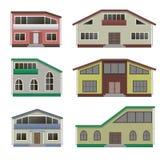 Huis en de bouwreeks Royalty-vrije Stock Afbeeldingen