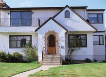 Huis en Deur royalty-vrije stock afbeelding