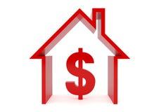 Huis en dollar Royalty-vrije Stock Afbeelding