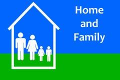 Huis en familie vector illustratie