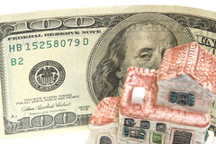 Huis en geld Royalty-vrije Stock Foto