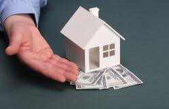 Huis en geld Stock Fotografie