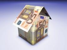 Huis en Geld Royalty-vrije Stock Afbeeldingen