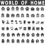 Huis en huis royalty-vrije stock foto