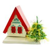 Huis en Kerstboom Royalty-vrije Stock Afbeelding