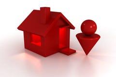 Huis en mens Vector Illustratie
