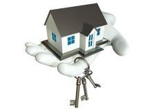Huis en Sleutel Stock Foto