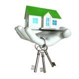 Huis en Sleutel Royalty-vrije Stock Afbeelding
