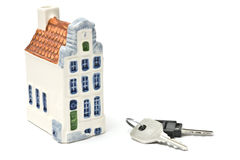 Huis en sleutels Stock Afbeelding