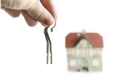 Huis en sleutels Stock Foto's