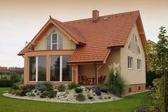 Huis en Tuin Stock Foto