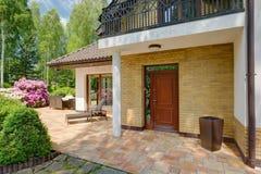 Huis Front Door royalty-vrije stock afbeelding