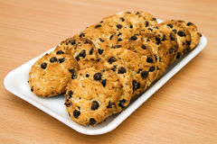 Huis-gebakken chocolade-spaander koekjes Royalty-vrije Stock Foto