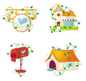 Huis-gebruik themapictogrammen vector illustratie
