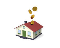 Huis - geldkuil royalty-vrije stock afbeelding