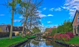 Huis in Giethoorn ~ Holland, Nederland royalty-vrije stock foto