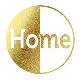 Huis in gouden Stock Afbeelding