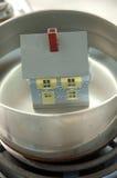Huis in heet water 2 Royalty-vrije Stock Afbeelding