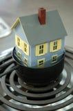 Huis in heet water 3 Stock Fotografie