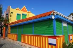 Huis in Heilige Martin in de Caraïben royalty-vrije stock afbeelding