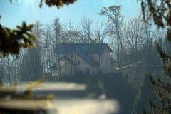 Huis in het bos Stock Afbeeldingen