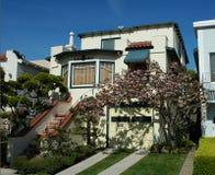 Huis in het district van de Jachthaven, San Francisco Royalty-vrije Stock Fotografie