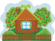 Huis in het dorp vector illustratie