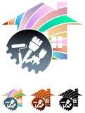 Huis het schilderen vector illustratie
