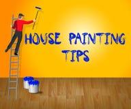 Huis het Schilderen de Uiteinden toont Huisverf 3d Illustratie royalty-vrije illustratie