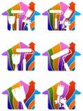 huis het schilderen embleem Royalty-vrije Stock Afbeeldingen