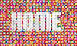 Huis het van letters voorzien vector met kleurrijk mozaïek Stock Afbeelding