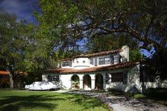 huis het van Zuid- 1950 ` s van Florida Stock Afbeeldingen