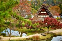 Huis in historisch dorp Shirakawa -shirakawa-gom Japan Stock Foto